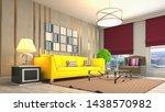 interior of the living room. 3d ...   Shutterstock . vector #1438570982