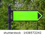 green menthol sign in the park. ... | Shutterstock . vector #1438572242