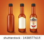 hot sauce product container and ... | Shutterstock .eps vector #1438577615