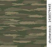 grunge dark green camouflage ... | Shutterstock .eps vector #1438579445