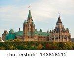 parliament hill building... | Shutterstock . vector #143858515