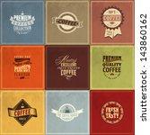 set of vintage retro coffee... | Shutterstock .eps vector #143860162