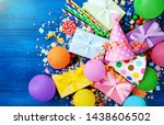 heap of gift or present boxes ... | Shutterstock . vector #1438606502