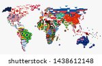 world map and all national... | Shutterstock .eps vector #1438612148