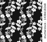 seamless pattern with orchid... | Shutterstock .eps vector #1438618268