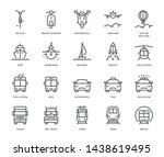 transport icons  oncoming view  ... | Shutterstock .eps vector #1438619495