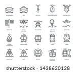 public transport icons ... | Shutterstock .eps vector #1438620128