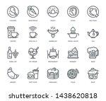 restaurant icons   monoline... | Shutterstock .eps vector #1438620818