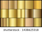 golden chrome metallic texture... | Shutterstock .eps vector #1438625318