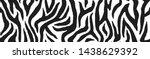 zebra skin  stripes pattern.... | Shutterstock .eps vector #1438629392