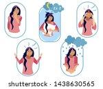 set  five types of bad female... | Shutterstock .eps vector #1438630565