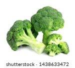 Fresh Green Broccoli On White...