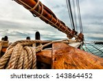 Tall Ship Schooner Sailing On...