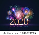 happy new year greeting card... | Shutterstock .eps vector #1438671245
