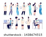 doctor characters. medical... | Shutterstock .eps vector #1438674515