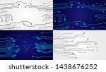 set of circuit boards. abstract ... | Shutterstock .eps vector #1438676252