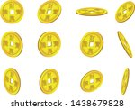 Set Of Chinese Coins On White...