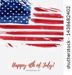 usa happy 4th of july... | Shutterstock .eps vector #1438682402