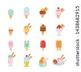 ice cream flat icon.set of... | Shutterstock .eps vector #1438682915