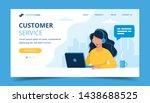 customer service landing page.... | Shutterstock . vector #1438688525