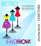 vector illustration of fashion... | Shutterstock .eps vector #143872486