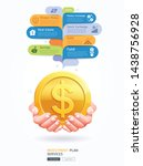 investment plan conceptual. two ... | Shutterstock .eps vector #1438756928