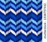 uzbek ikat silk fabric pattern  ... | Shutterstock .eps vector #1438757432