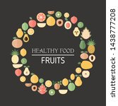 healthy food background with... | Shutterstock .eps vector #1438777208