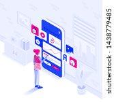 modern flat design isometric... | Shutterstock .eps vector #1438779485