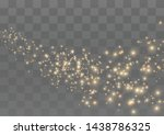 the dust sparks and golden... | Shutterstock .eps vector #1438786325
