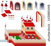 kit set of bricks  windows ... | Shutterstock .eps vector #143880448