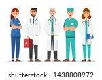 set of doctor cartoon... | Shutterstock .eps vector #1438808972