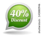green forty percent discount... | Shutterstock .eps vector #143880946