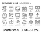 industries related  square line ... | Shutterstock .eps vector #1438811492