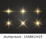 white glowing light explodes on ... | Shutterstock .eps vector #1438812425