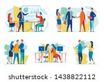 business people at work flat... | Shutterstock .eps vector #1438822112