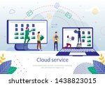 date synchronization and backup ... | Shutterstock .eps vector #1438823015