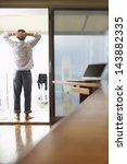 rear view of businessman... | Shutterstock . vector #143882335