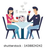 man and woman on fast date in 5 ...   Shutterstock .eps vector #1438824242