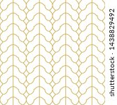linear scallops seamless... | Shutterstock .eps vector #1438829492