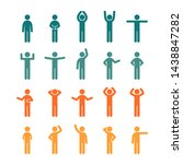 different poses stick figure... | Shutterstock .eps vector #1438847282