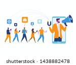 influencer marketing. potential ... | Shutterstock .eps vector #1438882478
