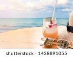 lychee soda cocktails...   Shutterstock . vector #1438891055