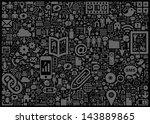 social media background | Shutterstock .eps vector #143889865