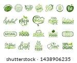 natural bio and organic food... | Shutterstock . vector #1438906235