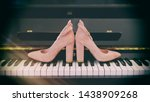 Brides Shoes On The Piano