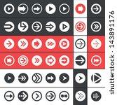 flat design ui arrow icons... | Shutterstock .eps vector #143891176