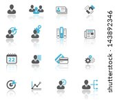 business and office icon set | Shutterstock .eps vector #143892346