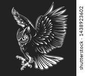 owl. bird vector illustration.... | Shutterstock .eps vector #1438923602