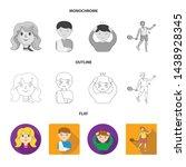 vector illustration of girl and ... | Shutterstock .eps vector #1438928345